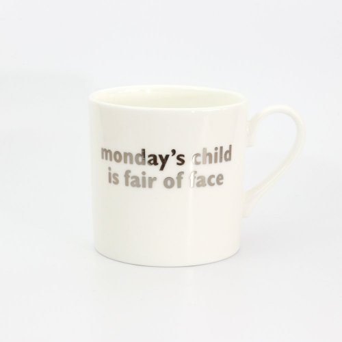 MONDAY'S CHILD PLATINUM MUG