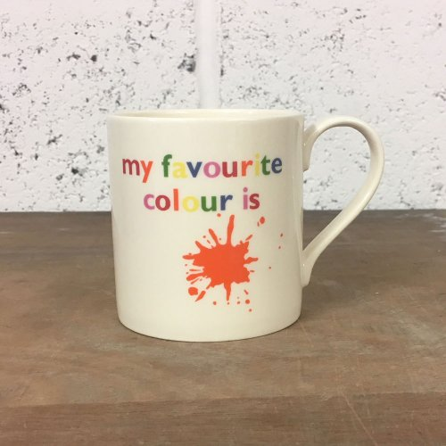 WAREHOUSE SALE! FAVOURITE COLOUR ORANGE STRAIGHT MUG