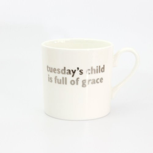 TUESDAY'S CHILD PLATINUM MUG