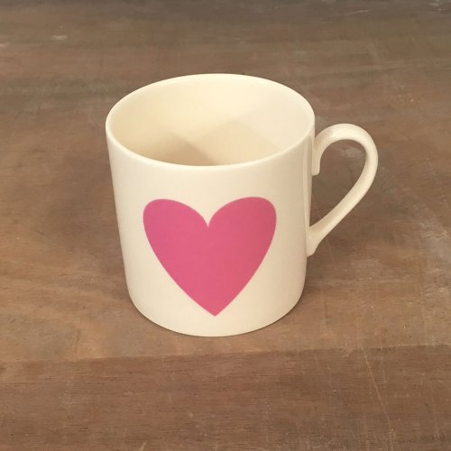 WAREHOUSE SALE! CHILDS PINK HEART PINT MUG