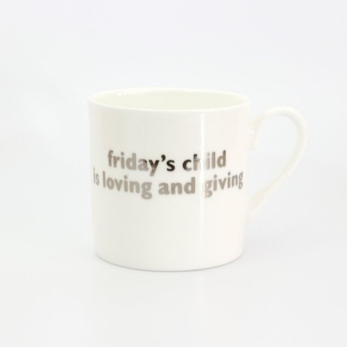 FRIDAY'S CHILD PLATINUM MUG