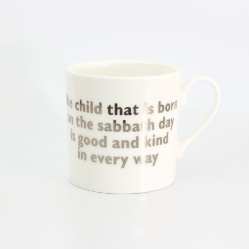 SUNDAY'S CHILD PLATINUM MUG