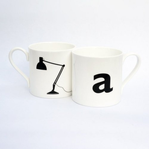 A IS FOR ANGLE LAMP MUG