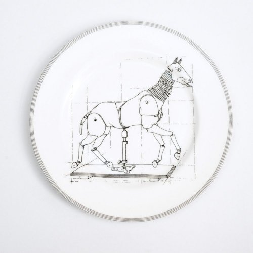 ARTICULATED HORSE DINNER PLATE