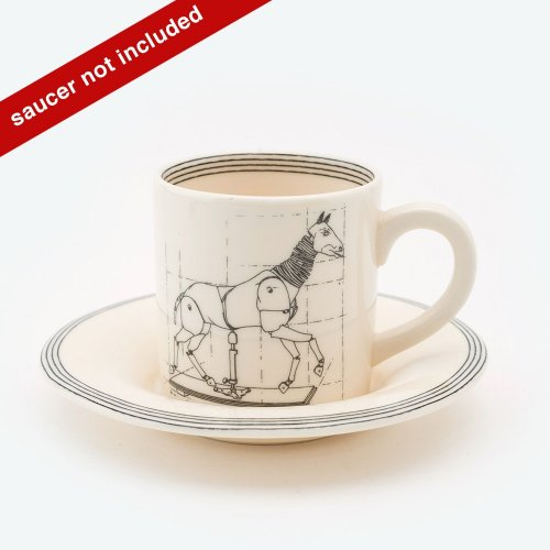 ARTICULATED HORSE ESPRESSO CUP & SAUCER