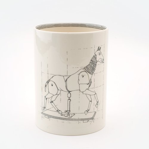 ARTICULATED HORSE LARGE PEN POT