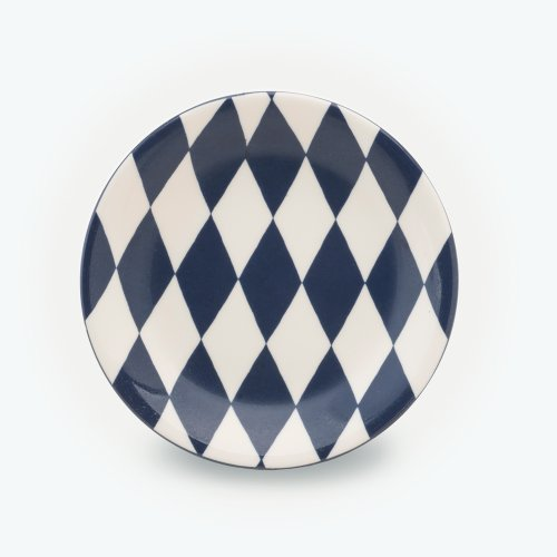 MIDNIGHT BLUE HARLEQUIN PLATE