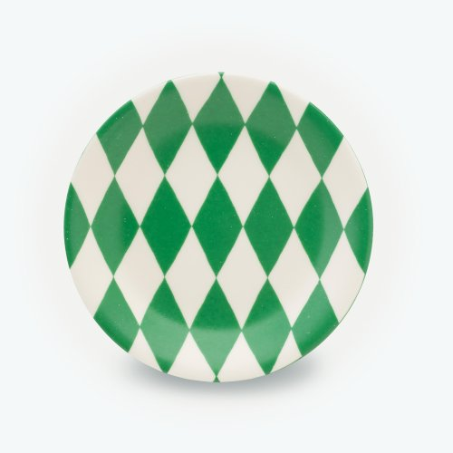 GREEN HARLEQUIN - SMALL PLATE