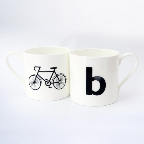 B IS FOR BICYCLE MUG