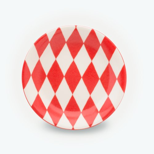 VERMILLION HARLEQUIN - SMALL PLATE