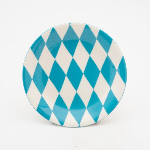 TURQUOISE HARLEQUIN PLATE