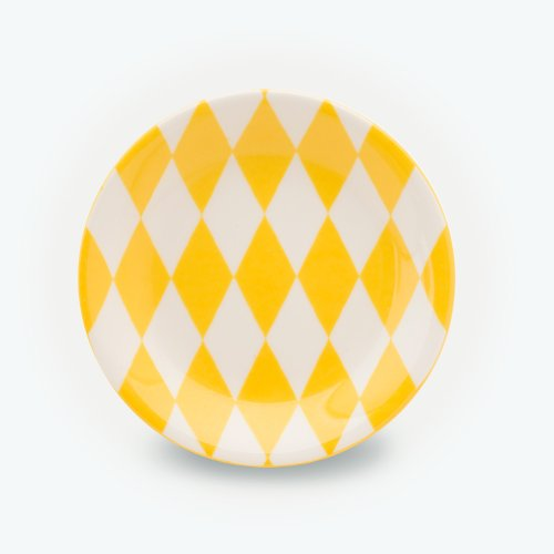 YELLOW HARLEQUIN PLATE