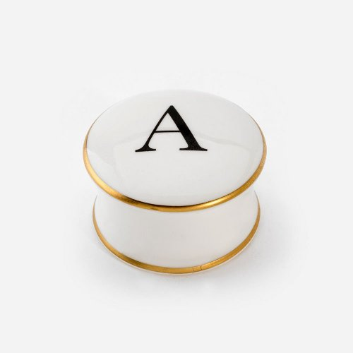 BASKERVILLE LETTER A TRINKET BOX