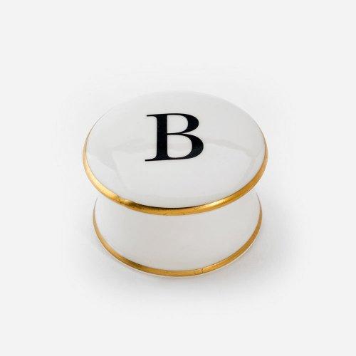 BASKERVILLE LETTER B TRINKET BOX