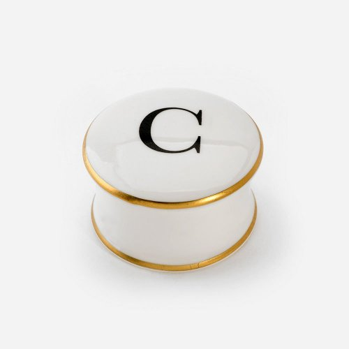 BASKERVILLE LETTER C TRINKET BOX