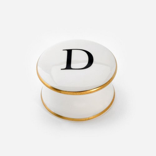BASKERVILLE LETTER D TRINKET BOX