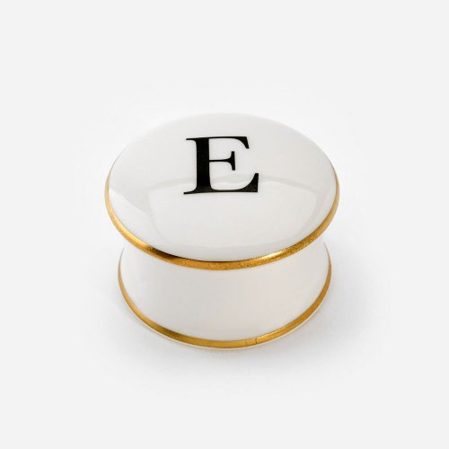 BASKERVILLE LETTER E TRINKET BOX