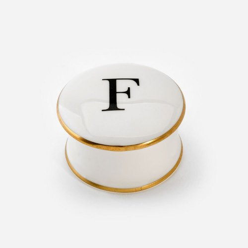 BASKERVILLE LETTER F TRINKET BOX