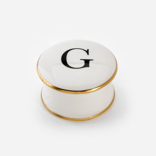 BASKERVILLE LETTER G TRINKET BOX