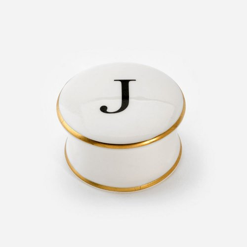 BASKERVILLE LETTER J TRINKET BOX