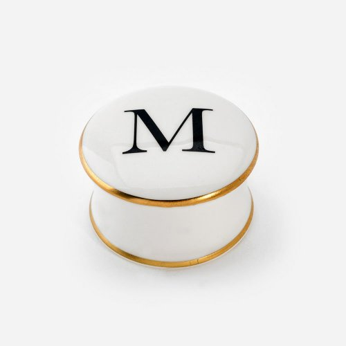 BASKERVILLE LETTER M TRINKET BOX