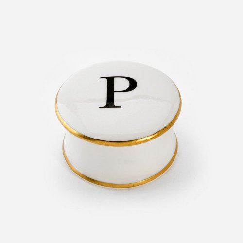 BASKERVILLE LETTER P TRINKET BOX