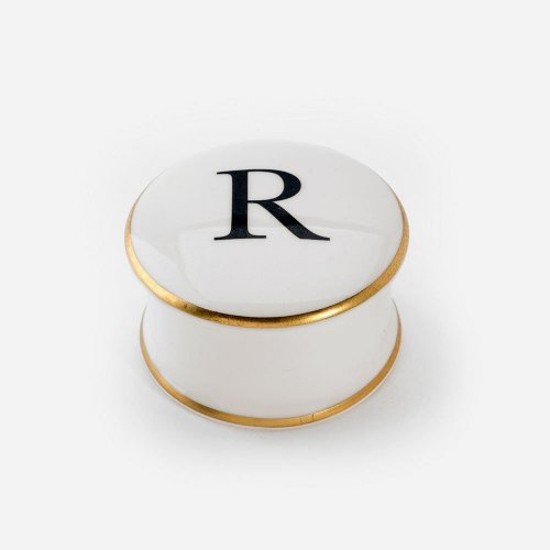 BASKERVILLE LETTER R TRINKET BOX
