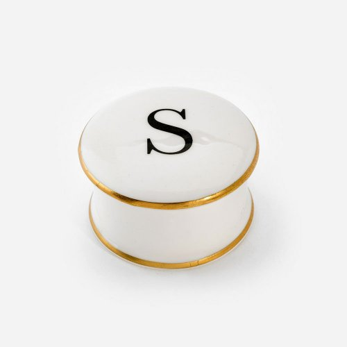 BASKERVILLE LETTER S TRINKET BOX
