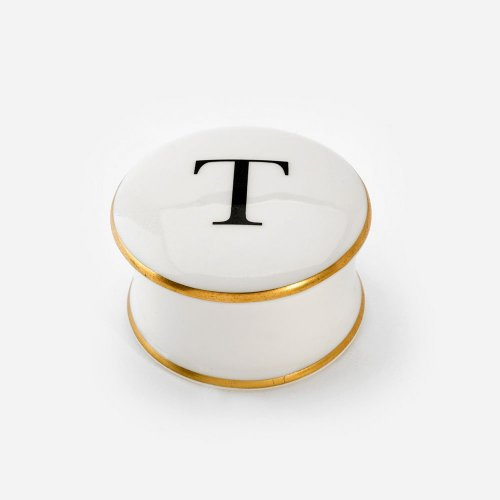 BASKERVILLE LETTER T TRINKET BOX