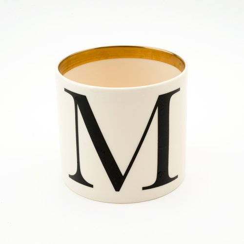 BASKERVILLE LETTER M SMALL PEN POT