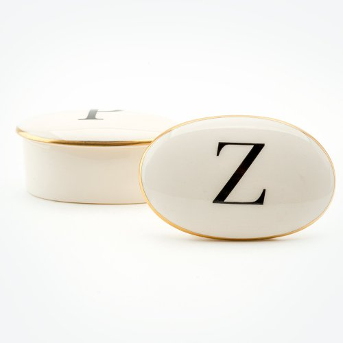 BASKERVILLE LETTER Z 22CT GOLD TRINKET BOX