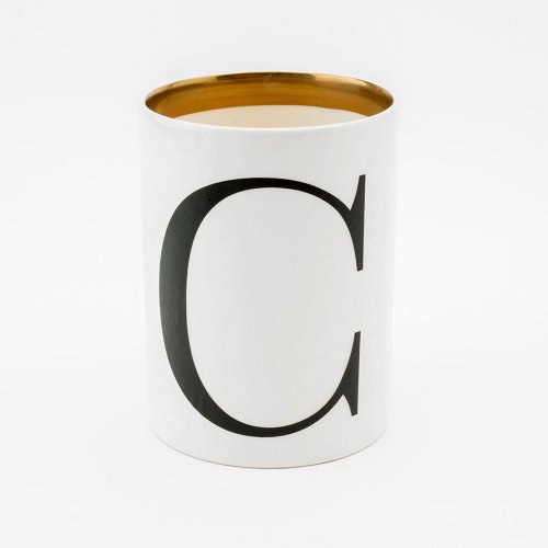 BASKERVILLE LETTER C LARGE PEN POT