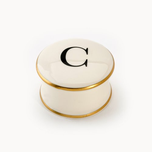 BASKERVILLE LETTER C TRAVEL CANDLE