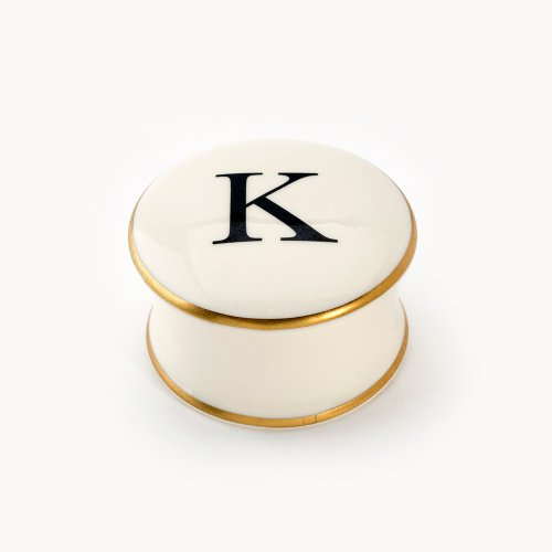 BASKERVILLE LETTER K TRAVEL CANDLE