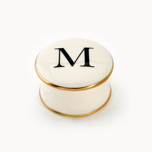 BASKERVILLE LETTER M TRAVEL CANDLE