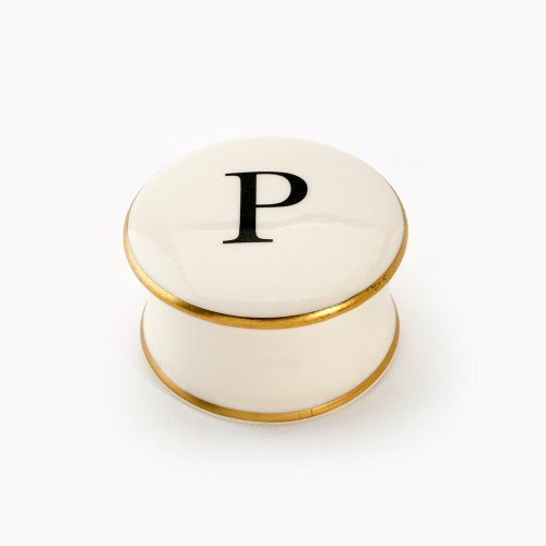 BASKERVILLE LETTER P TRAVEL CANDLE