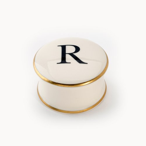 BASKERVILLE LETTER R TRAVEL CANDLE