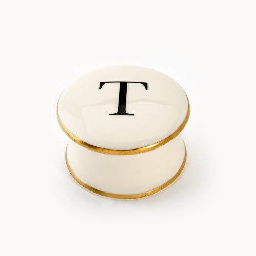 BASKERVILLE LETTER T TRAVEL CANDLE