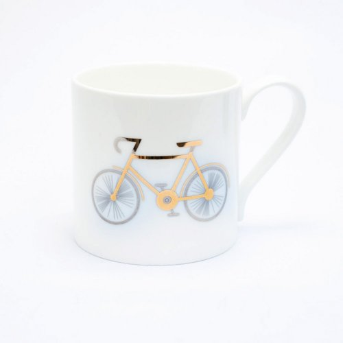 PLATINUM & GOLD BICYCLE MUG