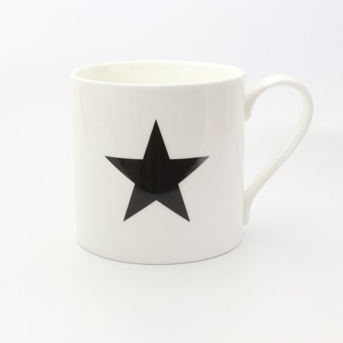 SHINE ME BLACK STAR HALF PINT MUG