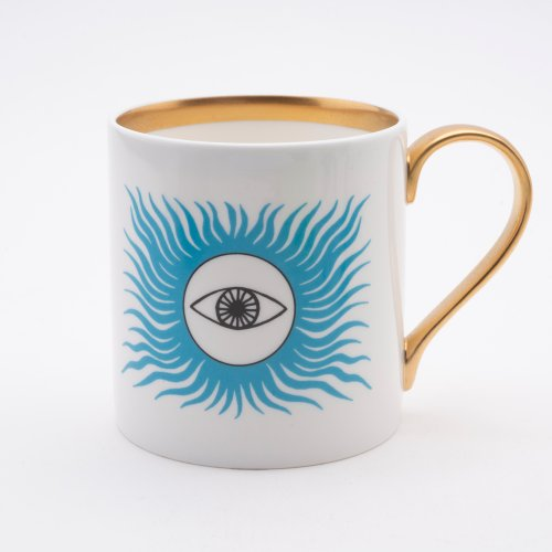 BLUE EYED SUN 22CT GOLD MUG