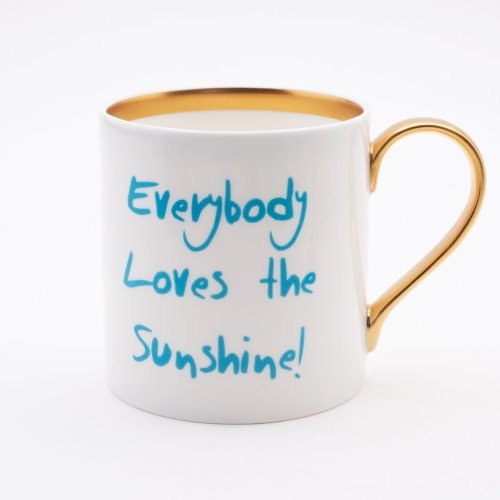BLUE SUNSHINE 22CT GOLD MUG