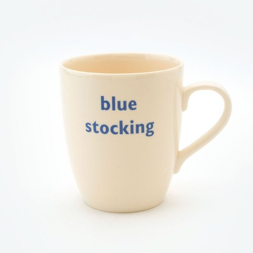 BLUE STOCKING MUG