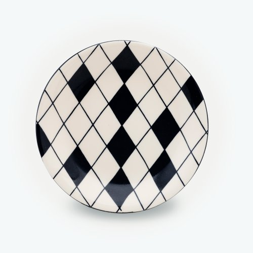 BLACK HARLEQUIN RANDOM - SMALL PLATE