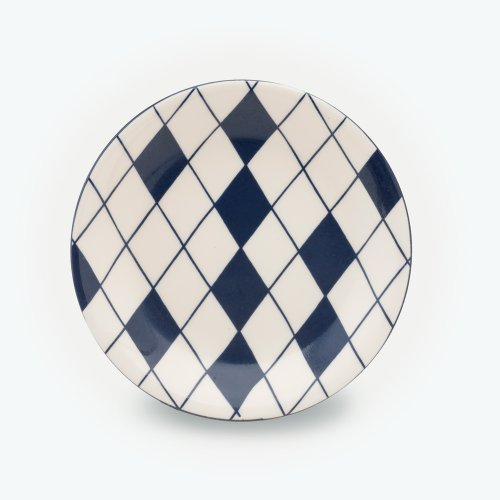 MIDNIGHT BLUE HARLEQUIN RANDOM PLATE