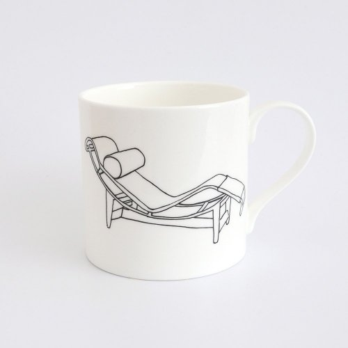 CHAISE LOUNGE BY PIERRE JEANNERET AND CHARLOTTE PERRIAND HALF PINT MUG