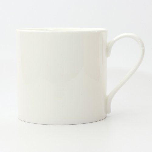 BESPOKE HALF PINT WHITE BONE CHINA MUG