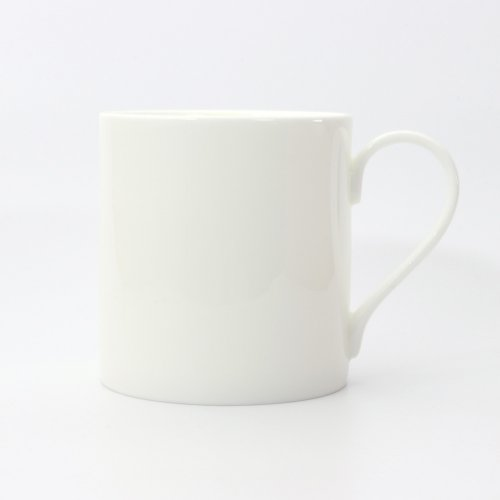 BESPOKE STRAIGHT MUG WHITE BONE CHINA