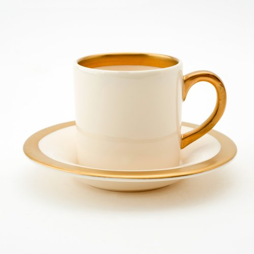 BESPOKE 22CT GOLD ESPRESSO CUP & SAUCER