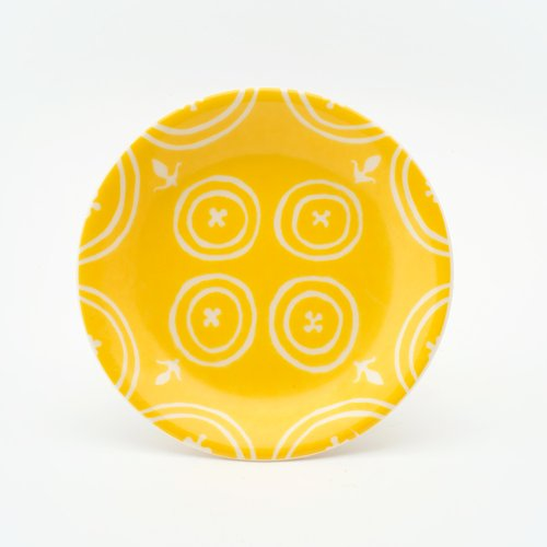 YELLOW SMALL FLEUR-DE-LYS - SMALL PLATE